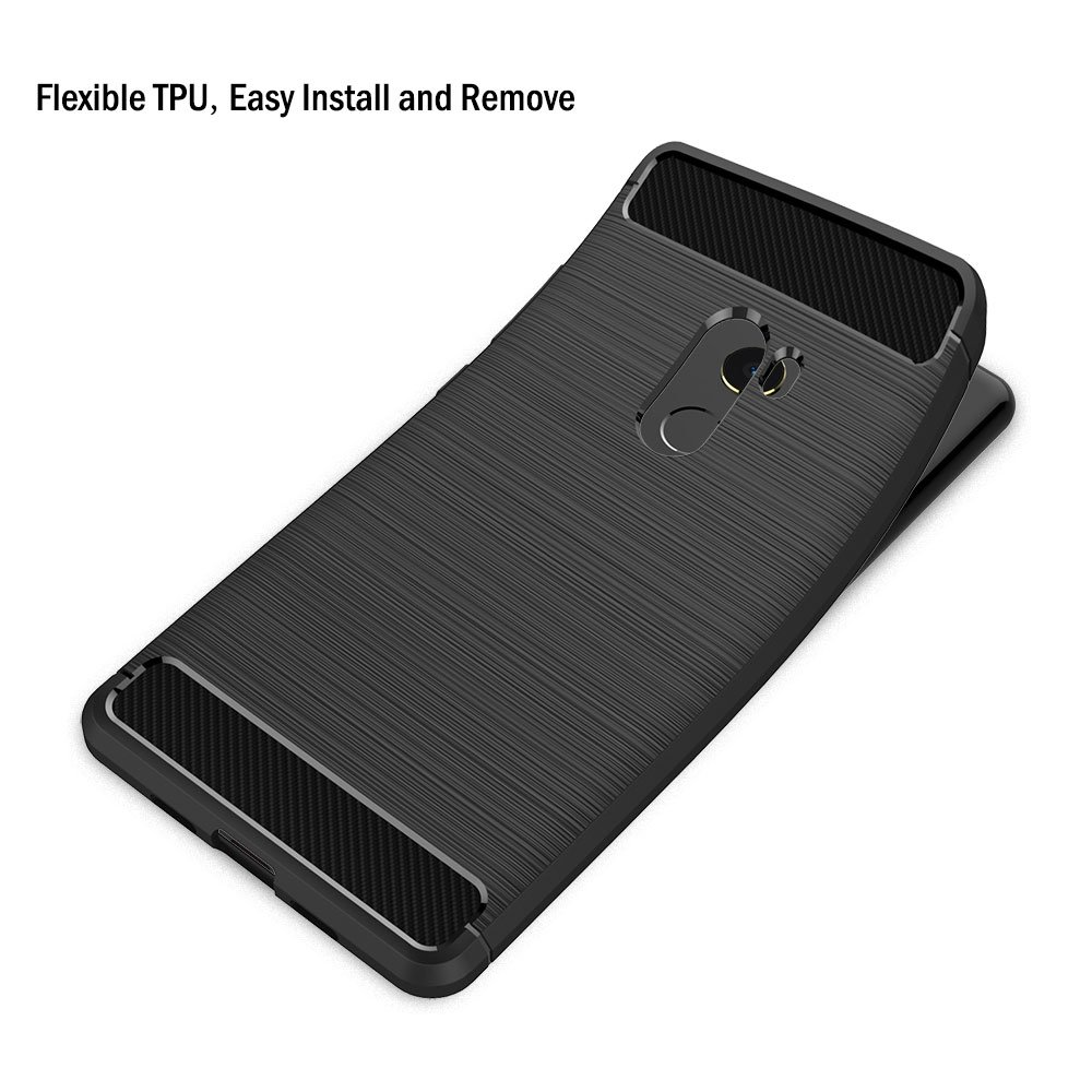 Funda Xiaomi Mi Mix 2, AICEK Negro Silicona Fundas para Xiaomi Mi Mix 2 Carcasa Xiaomi Mix 2 Fibra de Carbono Funda Case (5,99 Pulgadas): Amazon.es: ...