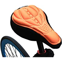 Coromose 1PCS Bicycle Seat Cover 3D Breathable Bicycle Seat Cover Embossed High-Elastic Cushion Perfect Bike Accessory