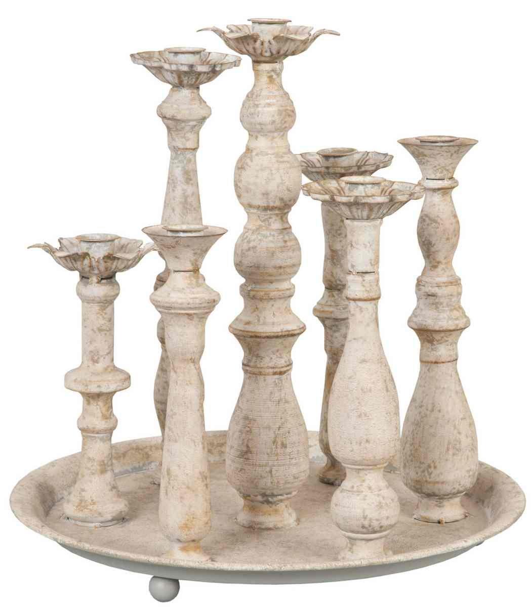 Kerzenständer auf Tablett Ø 35*36 cm Clayre & Eef
