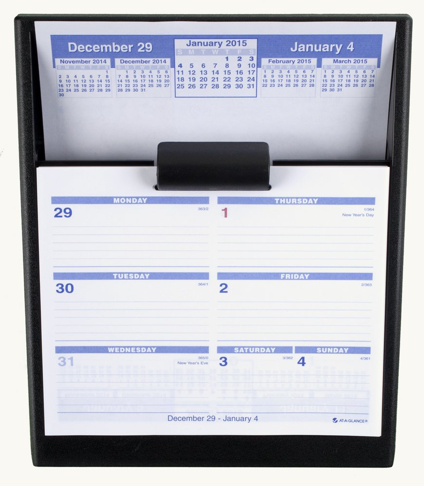 AT-A-GLANCE Flip-A-Week Desk Calendar Weekly Refill 2015, 5.62 x 7 Inch Page Size (SW705X-50)