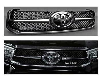 Rejilla delantera parrilla cromado y negro Color para Toyota ...