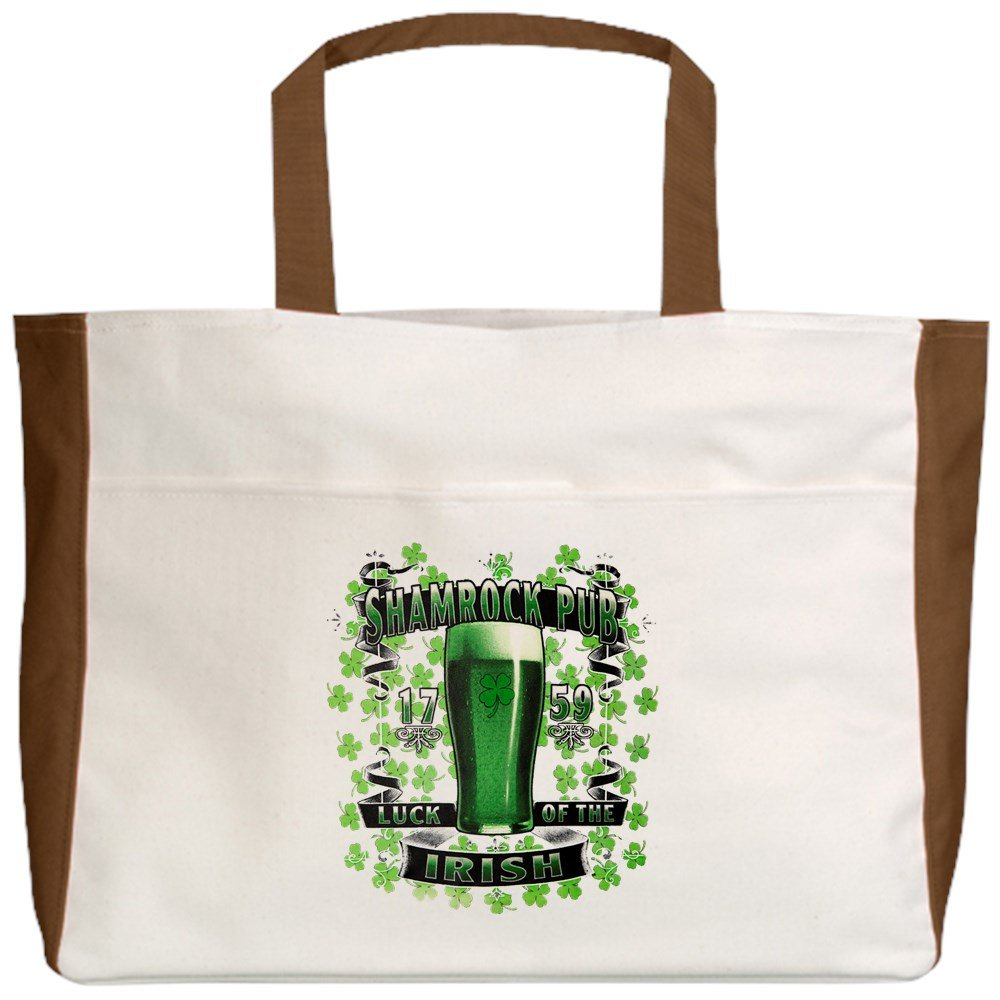 Shamrock Pub Irish St Patricks Day Royal Lion Beach Tote 2-Sided