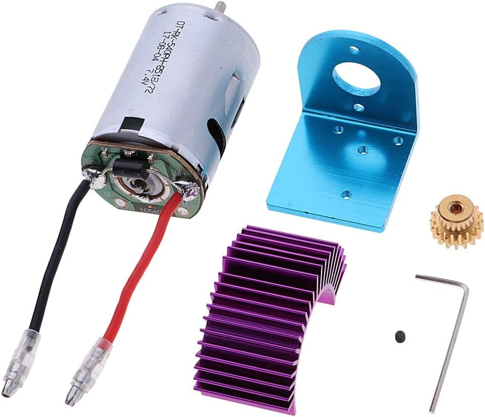 B07TJZYX84 Part & Accessories For 12428 12423 RC Car Parts 540 Motor &17T Motor Gear &Motor Radiator &Motor Seat 12428-0121+0088+0056+XY12017 61IVdtrD4bL
