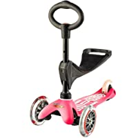 Mini Micro Scooter 3 in 1 Deluxe Pembe MMD009