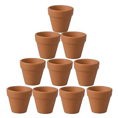 OUNONA 10Pcs Terracotta Pot Clay Ceramic Pottery Planter Cactus Flower Pots Succulent Nursery Pots (4.5x4cm): Garden & Outdoor