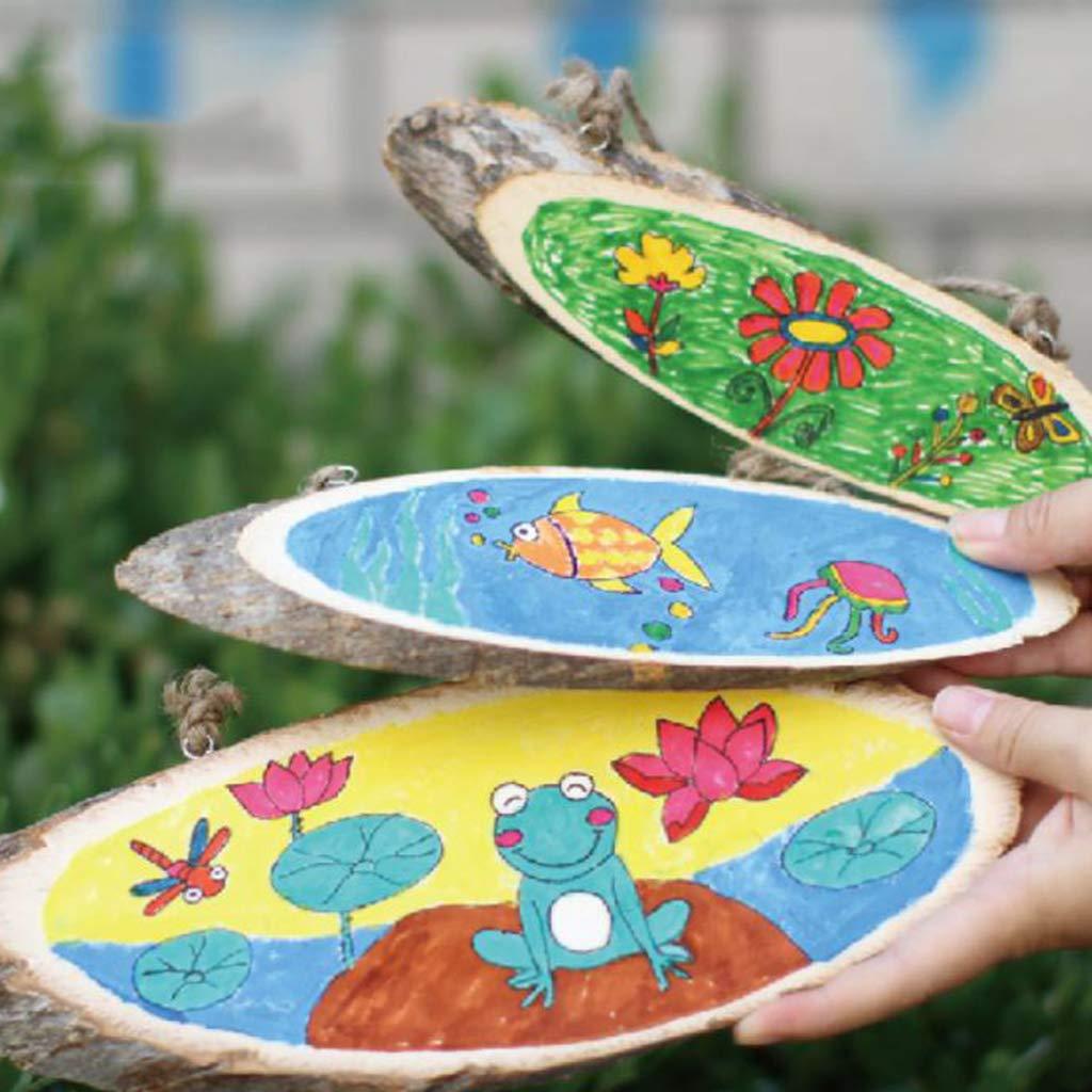 Decorazione Di Cerimonia N 10 Pz Legno Naturale Fette Corteccia Dalbero Artigianato Ovale Legno Pirografia FAI DA TE Con Iuta Spago Per Ornamenti