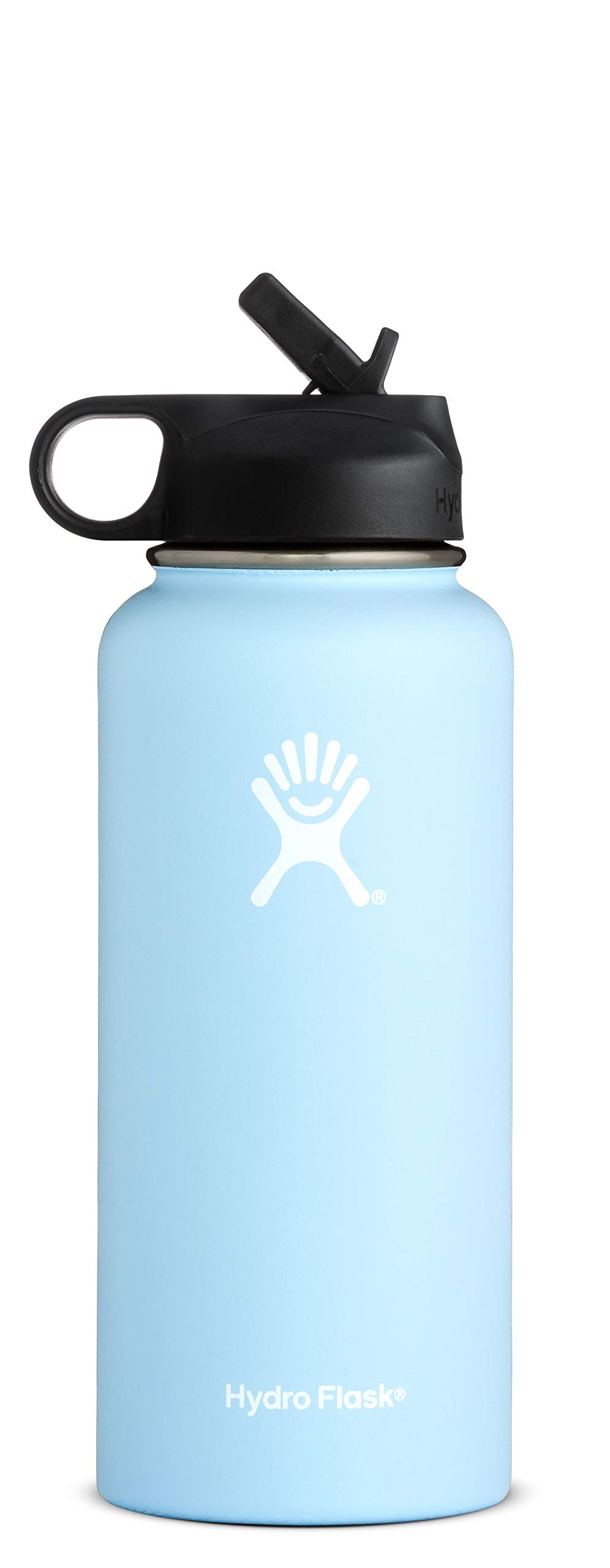 Hydro Flask Water Bottle - Stainless Steel & Vacuum Insulated - Wide Mouth with Straw Lid - 40 oz, Frost by Hydro Flask