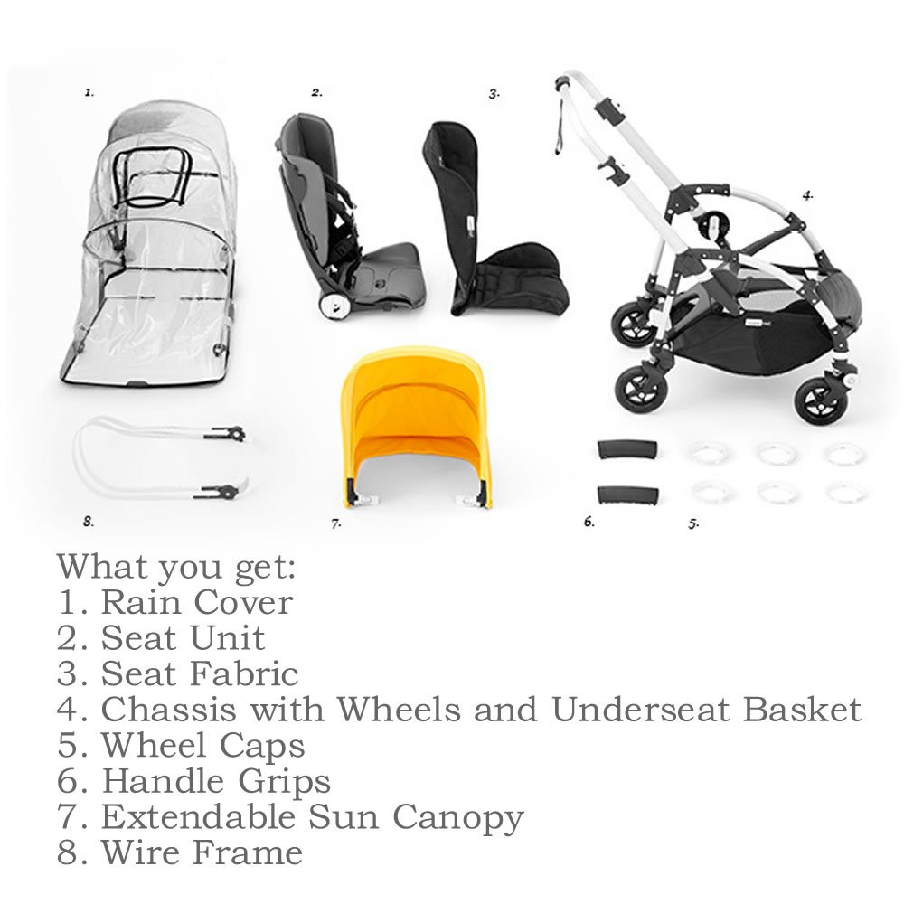 Amazon Com Bugaboo Bee5 Complete Stroller With Aluminum Frame With