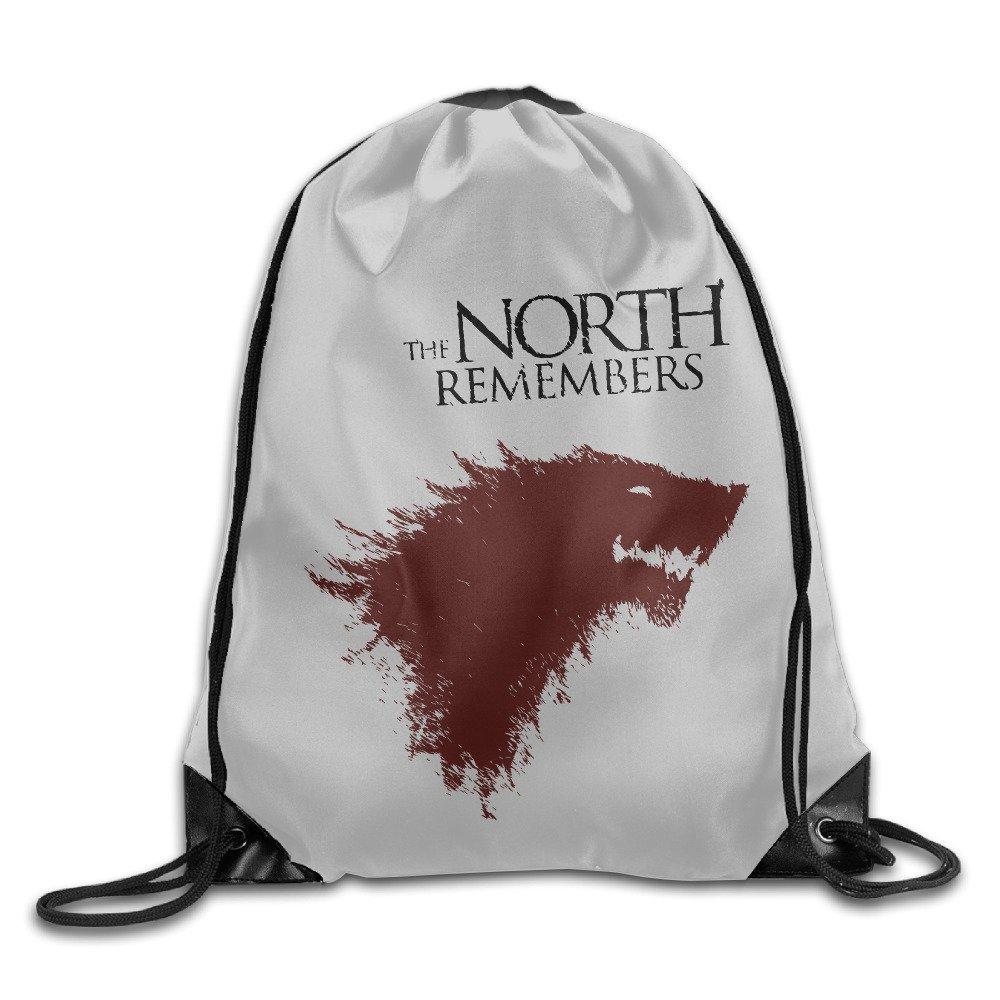 ユニセックスThe North Remembers Game Of Thronesスポーツバッグ巾着バックパック B01KF851F0  One Size