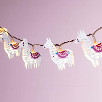 Lights4fun Guirlande Lumineuse Enfant Lamas à LED Blanc Chaud ...