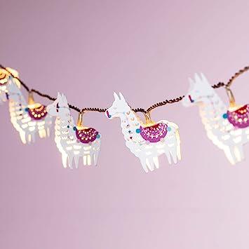 Lights4fun Guirlande Lumineuse Enfant Lamas à LED Blanc Chaud