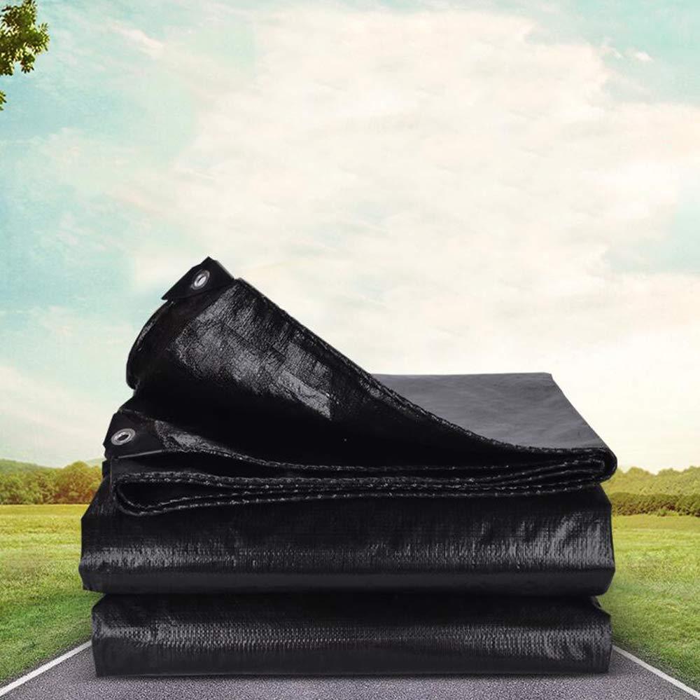 3X3m MYYDD BÂche Noire épaisse imperméable extérieure Coupe-Vent de bÂche de Jardin de Camion de bÂche de Prougeection Pare-Pluie bÂche de Prougeection Contre la Pluie,4X4m