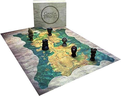 Juego de Tronos Réplica Robb Stark Mapa Westeros con marcadores, Multicolor, 14