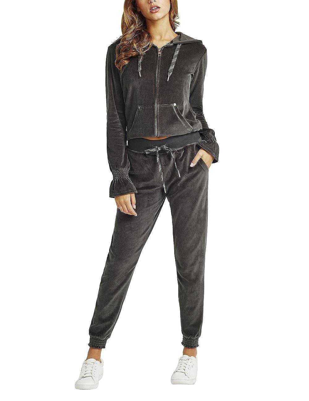 Lipsy Mujer Pantalones de chándal con bajo Ajustado: Amazon.es ...