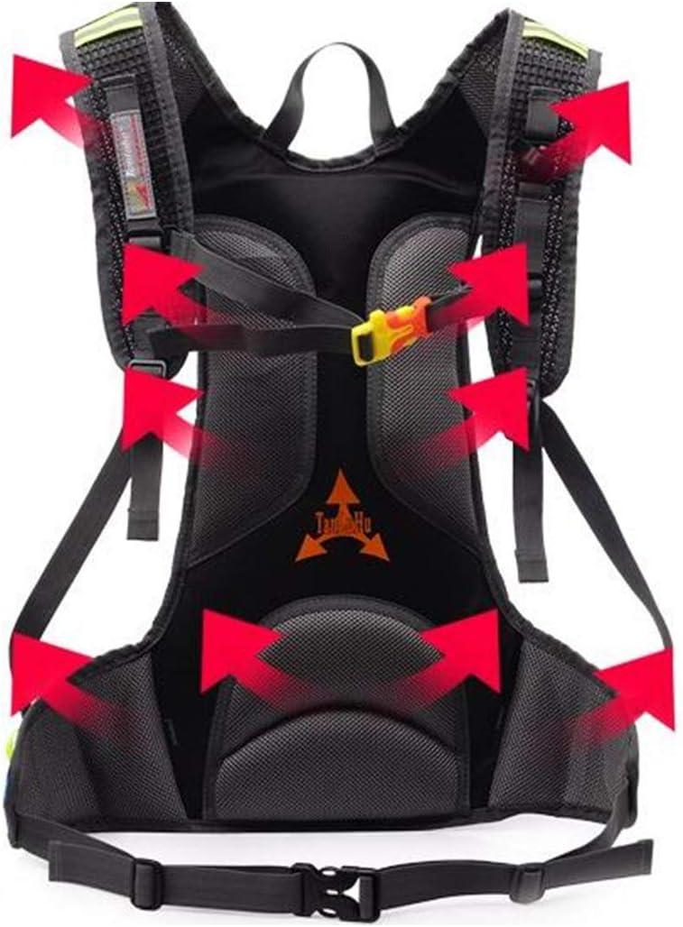 Color : Black Qingduqijian Vest Backpack Outdoor Waterproof Riding Backpack Men and Women Hiking Backpack Running Sports Backpack