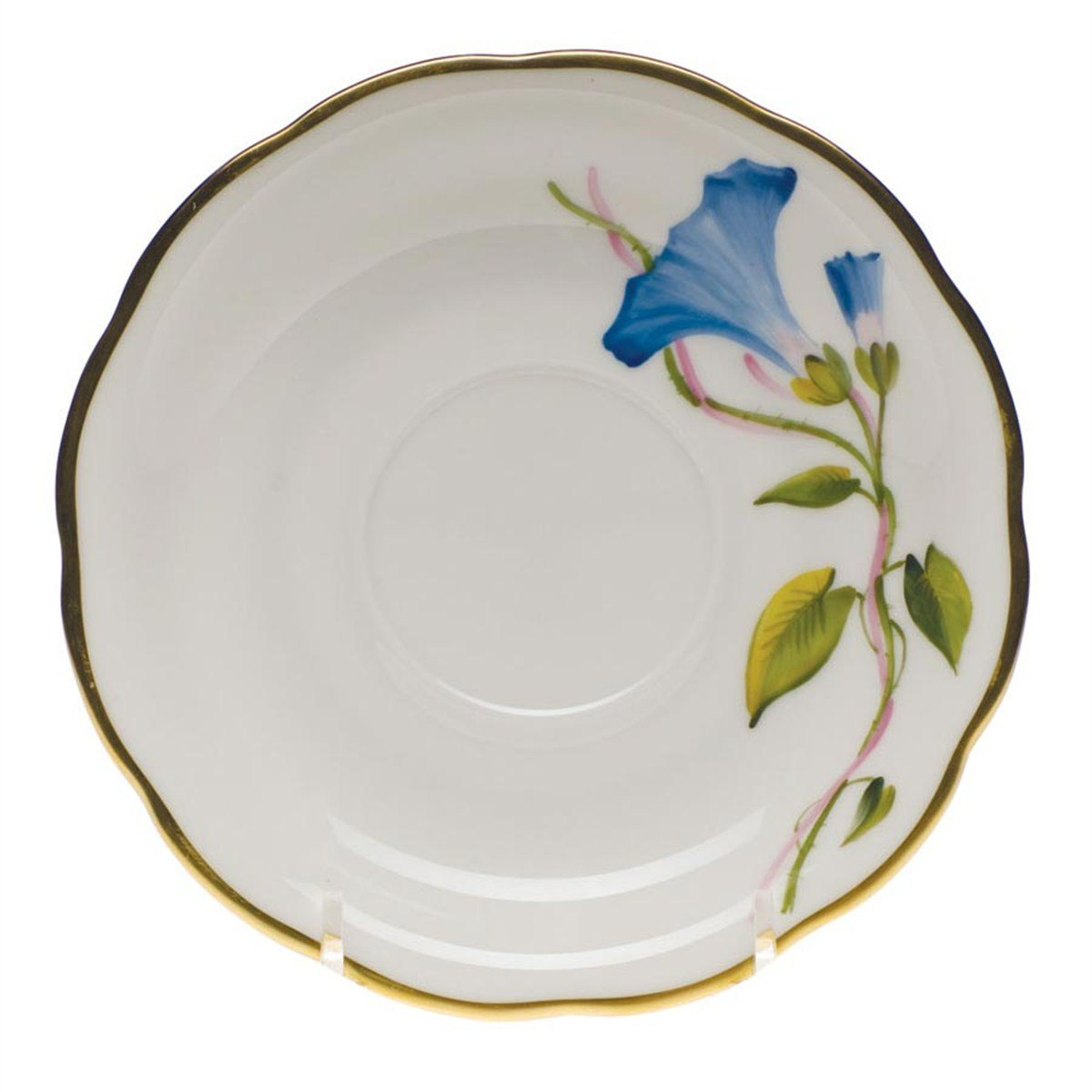 Herend American Wildflowers Morning Glory Tea Saucer FLAMG-20734-1-00