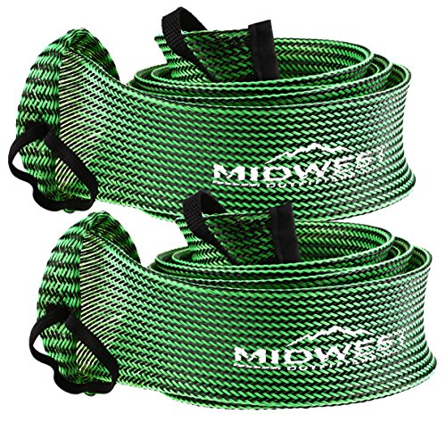 Spinning Fishing Rod Sleeve Rod Sock Cover 2 Pack By Midwest Outfitters (Black/Lime) Rod Sleeve