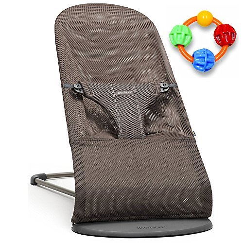 Baby Bjorn Bliss Bouncer - Cocoa Mesh with Click Clack Balls Teether by BabyBjörn