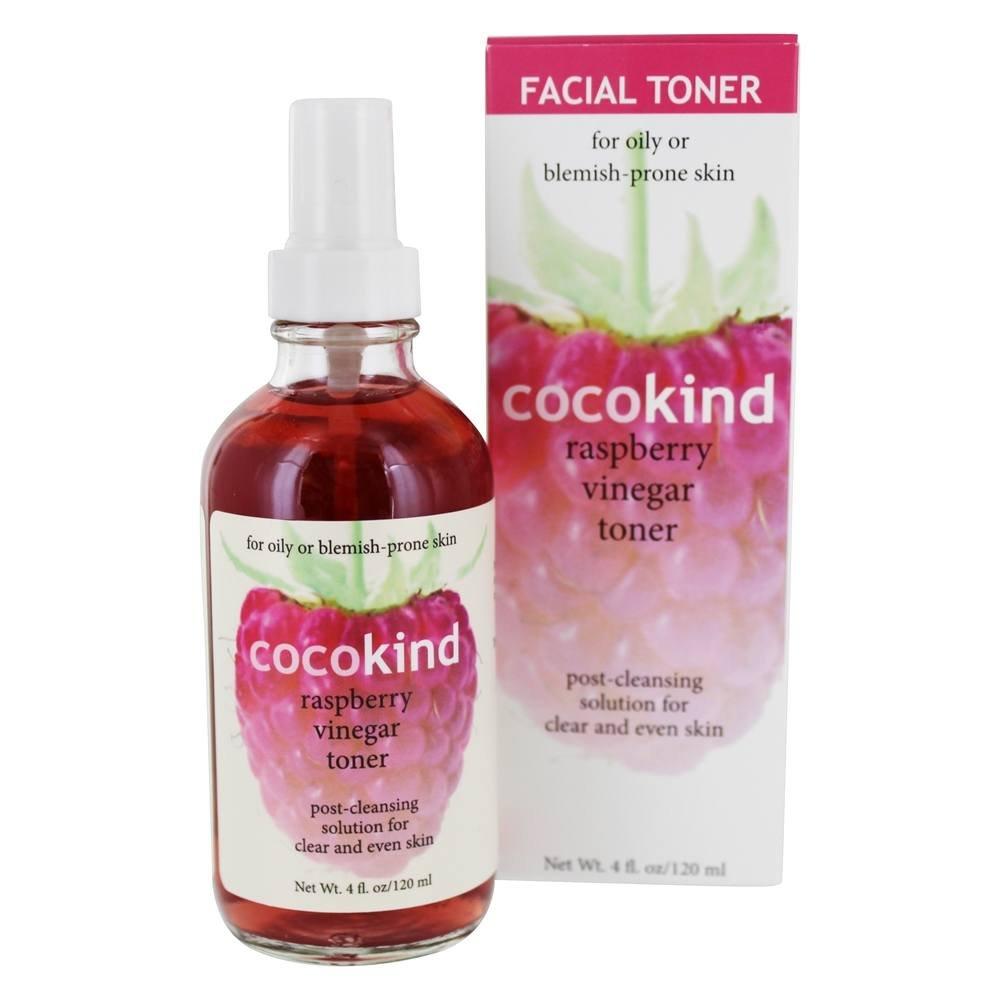COCOKIND Facial Toner Raspberry Vinegar, 4 Fluid Ounce