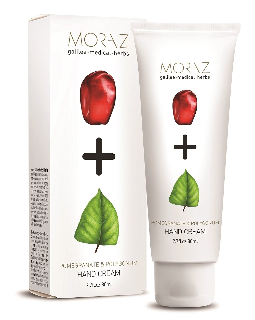Moraz Natural Pomegranate and Polygonum Hand Cream, 80 ml