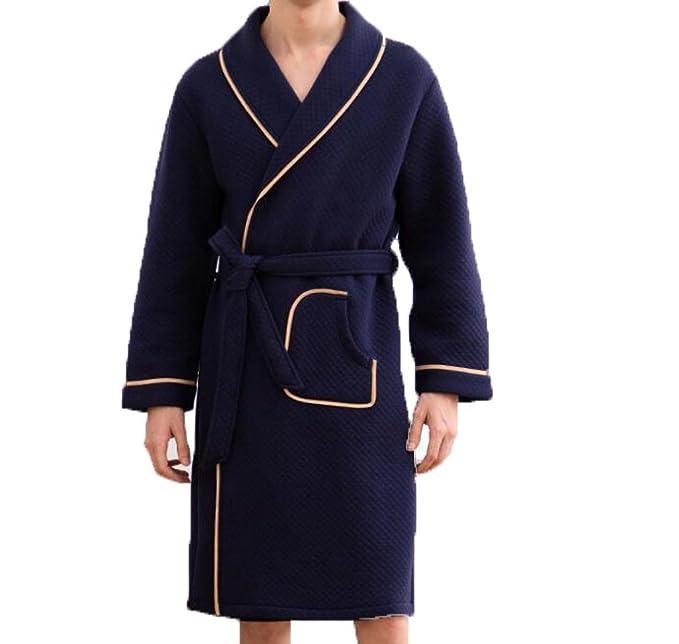 Camisón Invierno Cálido Y Cómodo Pijama De Algodón De Los Hombres Mangas Largas En El Servicio