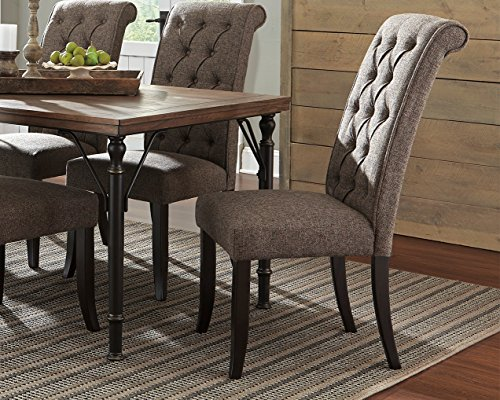 D530-02 Tripton Dining Upholstered Side Chair Pack of Two (Covered Dining Room Chairs)