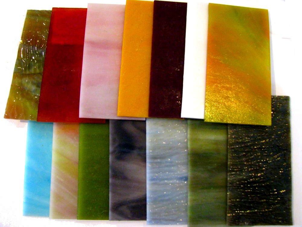 Devardi Glass 4.5 oz COE 90 Dichroic & Fancy Sheet Glass Mix - Fusible 1/4+ lb DG90DMm4.5