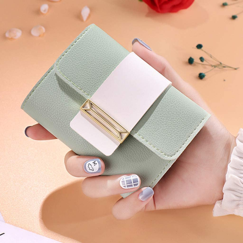 Womens Casual Wallets Clearance Sale Women Short Style Contrast Color Small Fresh Coin Purse Card Holder Bag