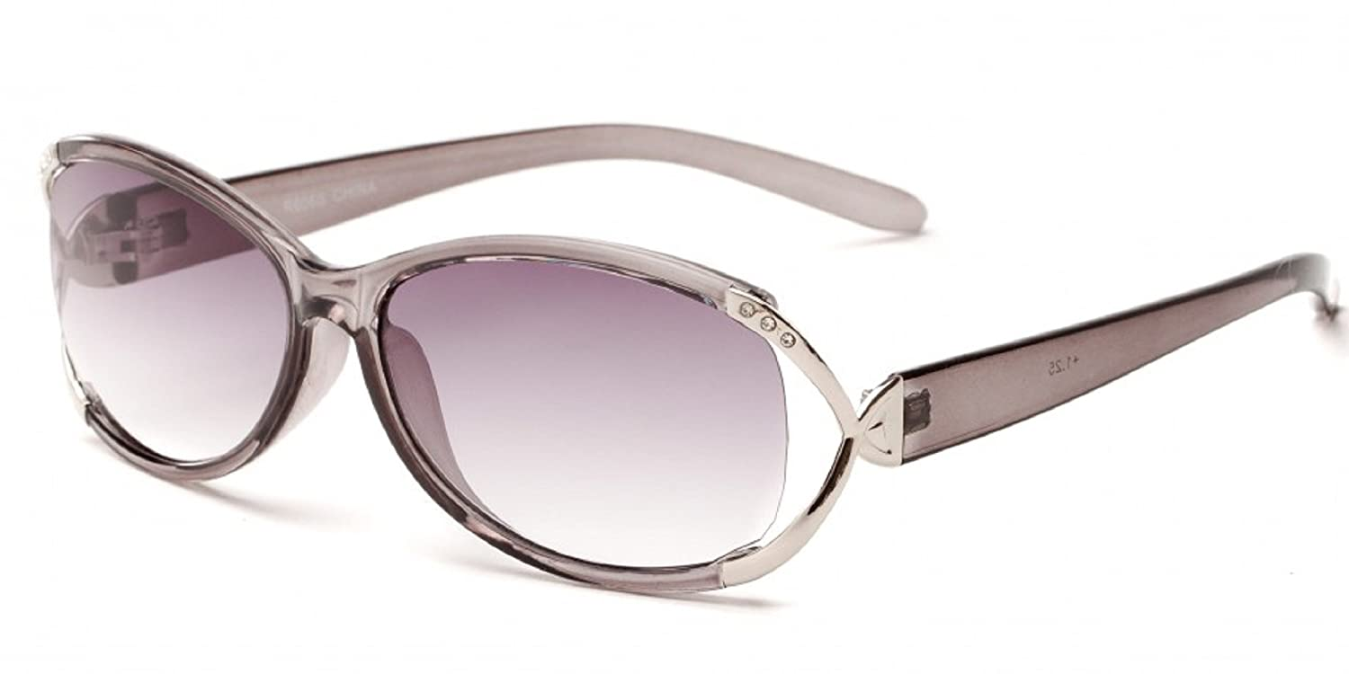 4977061c40 Amazon.com  Readers.com The Claire Sun Readers for Women Oval Reading  Glasses Trendy Readers Sunglasses + 1.50 Red and Silver (Microfiber  Cleaning Carrying ...