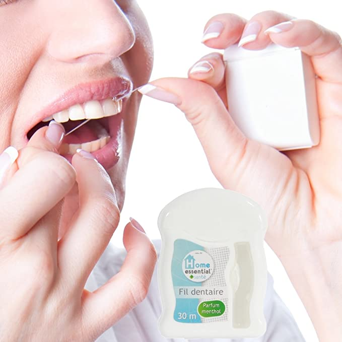 Promobo - Dispensador hilo dental 30 m FARMACIA Perfume Mentol: Amazon.es: Hogar