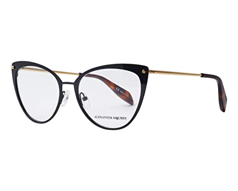 fedb489849 Image Unavailable. Image not available for. Color  Eyeglasses Alexander  McQueen AM 0140 O- ...