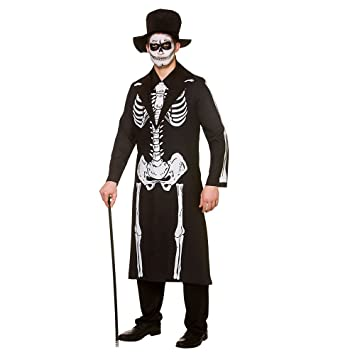 2b5731e4599 Adult Mens Day of The Dead Skeleton Small Halloween Fancy Dress Costume