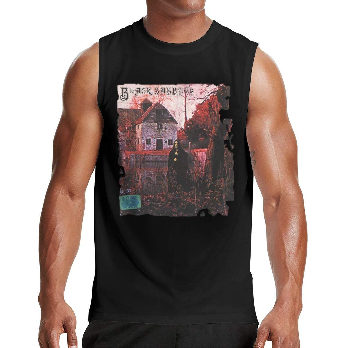 Thomlarryca Black Sabbath S Gym Muscle T Shirt Classic Athletic Sleeveless T Shirts Bl