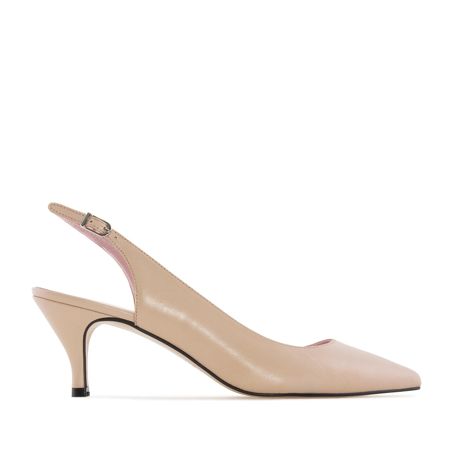 Andres Machado Fine Toe Slingback Shoes in Beige Leather, 43 M EU/11.5 B (M) US by Andres Machado (Image #2)