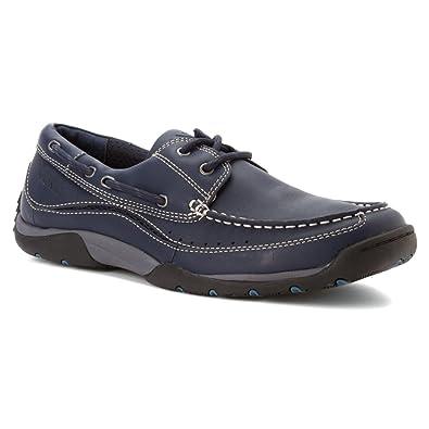 Vionic Mens Eddy Boat Shoe Navy Size 8