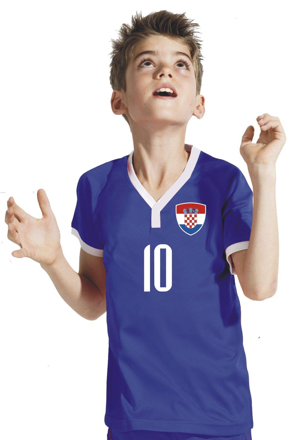 Druck Wunschname Hose Stutzen inkl Aprom-Sports Kroatien Kinder Trikot BBB WM 2018 Nr