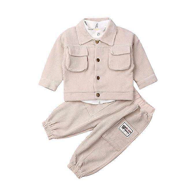Conjunto de Trajes de bebé niño Camisa de algodón Blanca ...