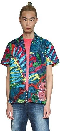 Desigual Cam_Andrew - Camisa para hombre, talla M: Amazon.es: Ropa y accesorios