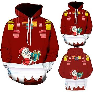 Hombre sudadera hoodie navidad casual invierno otoño,Sonnena sudadera manga larga guapa hombre navidad Patrón estampado dobladillo elástico moda fiesta ...