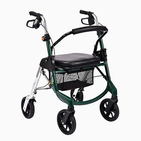 ZAIHW Andador con ruedas liviano con asiento y frenos ...