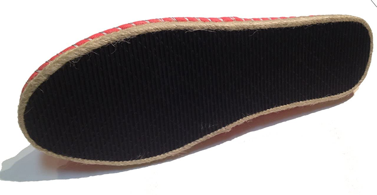 Amazon.com | Two Tone Espadrilles - Spanish Alpargatas - Slip On - Deck Shoes - Canvas - Assorted Colors | Slippers