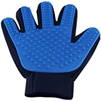 Pet Grooming Glove Silicone Massage Hair Remover Brush Gentle Groomer for Dogs Cats (Right Hand)