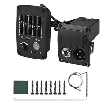 Ecualizador de ecualizador de 5 bandas de guitarra acústica clásica Sguan-wu para pickup de amplificador de volumen SE-5N - Negro: Amazon.es: Instrumentos ...