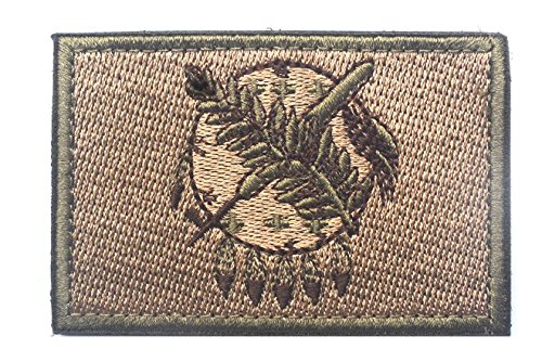 OKLAHOMA STATE FLAG TACTICAL US ARMY USA MILITARY MORALE VELCRO PATCH (3)
