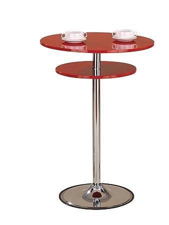 Amazon.com: Acme 70374 Maimon mesa alta de bar, cromo metal ...