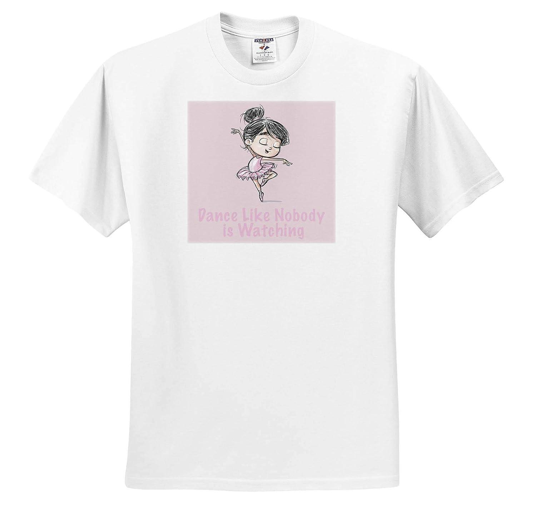 Dance Like Nobody is Watching with PILI The Ballerina in Pink Tutu 3dRose Kike Calvo Little Explorer T-Shirts Big World