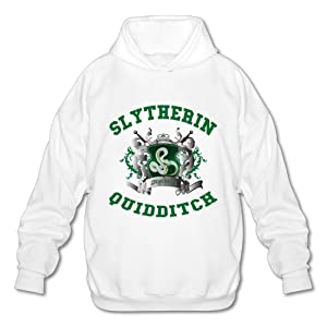 NUBIA Men's Harry Slytherin Quidditch Potter Custom Hoodies White XXL