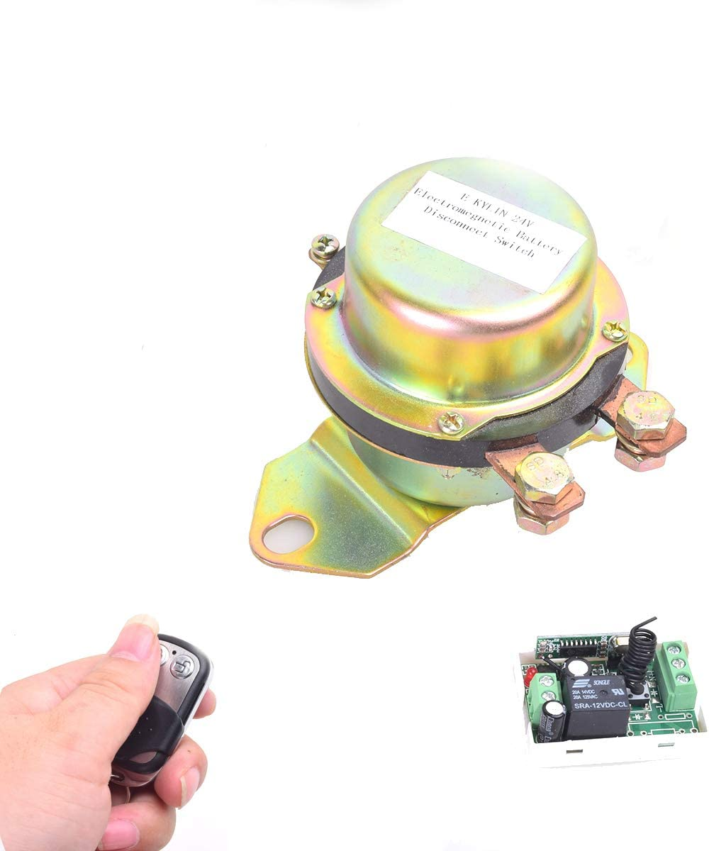Cocar Coche Sin Hilos Remoto Controlar batería Interruptor Desconectar Pestillo Relé Anti-Robo CC 12V Electromagnético Solenoide Válvula Terminal Master Kill System