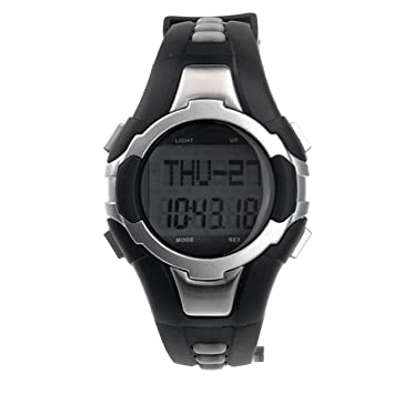 PIXNOR 1005 All-in-one impermeable sin tirantes Monitor calorías contador Digital reloj pulsómetro con podómetro /Stopwatch (plata): Amazon.es: Deportes y ...