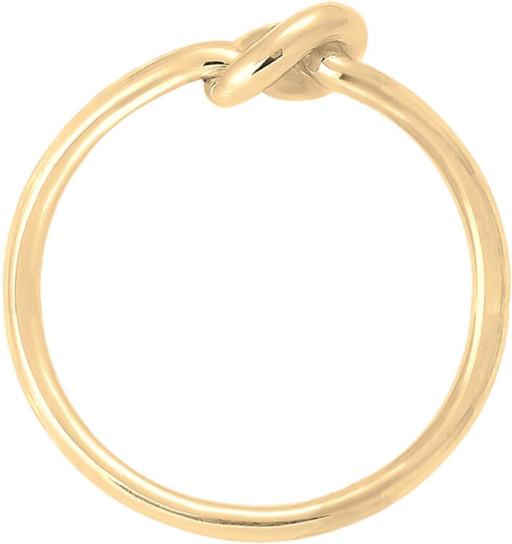 Elli Ring Damen Knoten Verknotet Trend Basic in 925 Sterling Silber